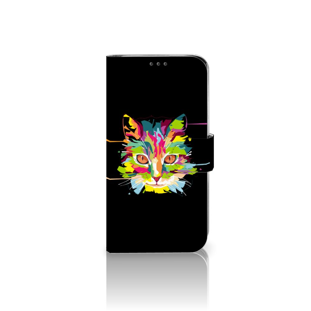 Xiaomi Mi A2 Lite Uniek Boekhoesje Cat Color