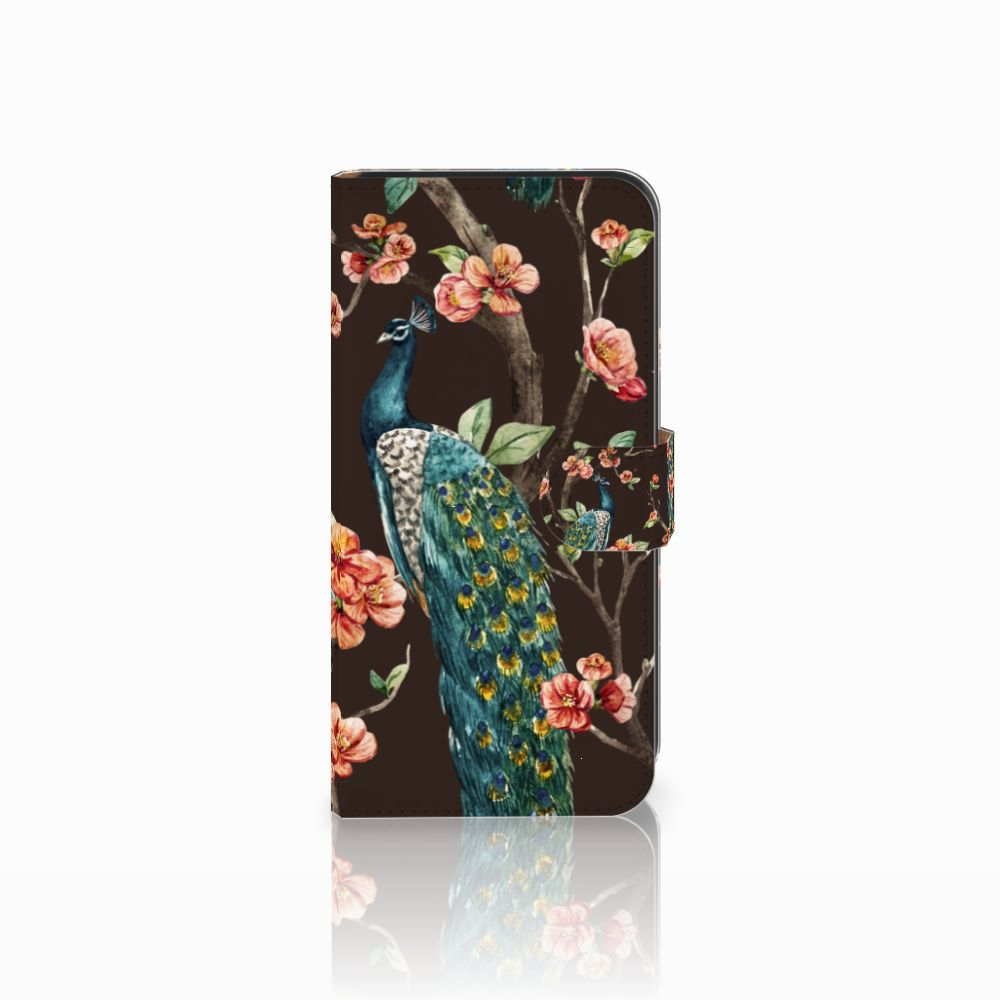 Samsung Galaxy E7 Boekhoesje Design Pauw met Bloemen