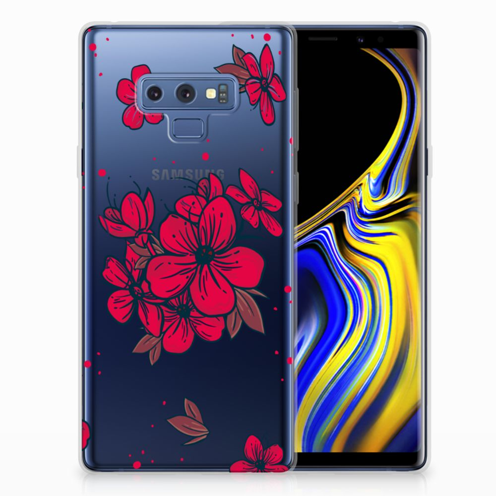 Samsung Galaxy Note 9 TPU Hoesje Design Blossom Red