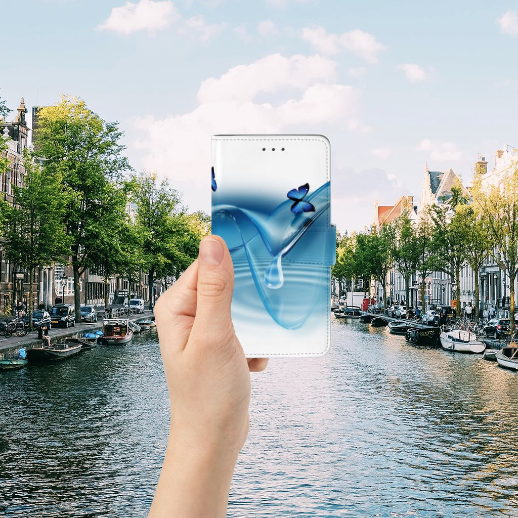 Samsung Galaxy J7 2016 Telefoonhoesje met Pasjes Vlinders
