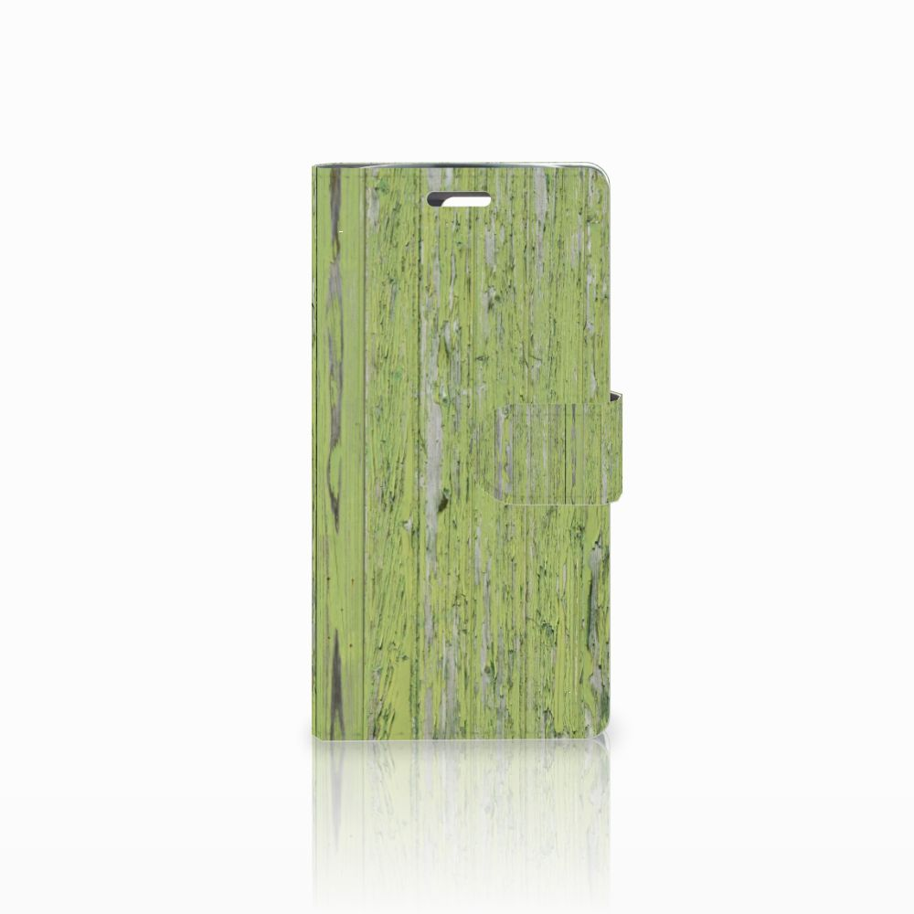 LG K10 2015 Book Style Case Green Wood