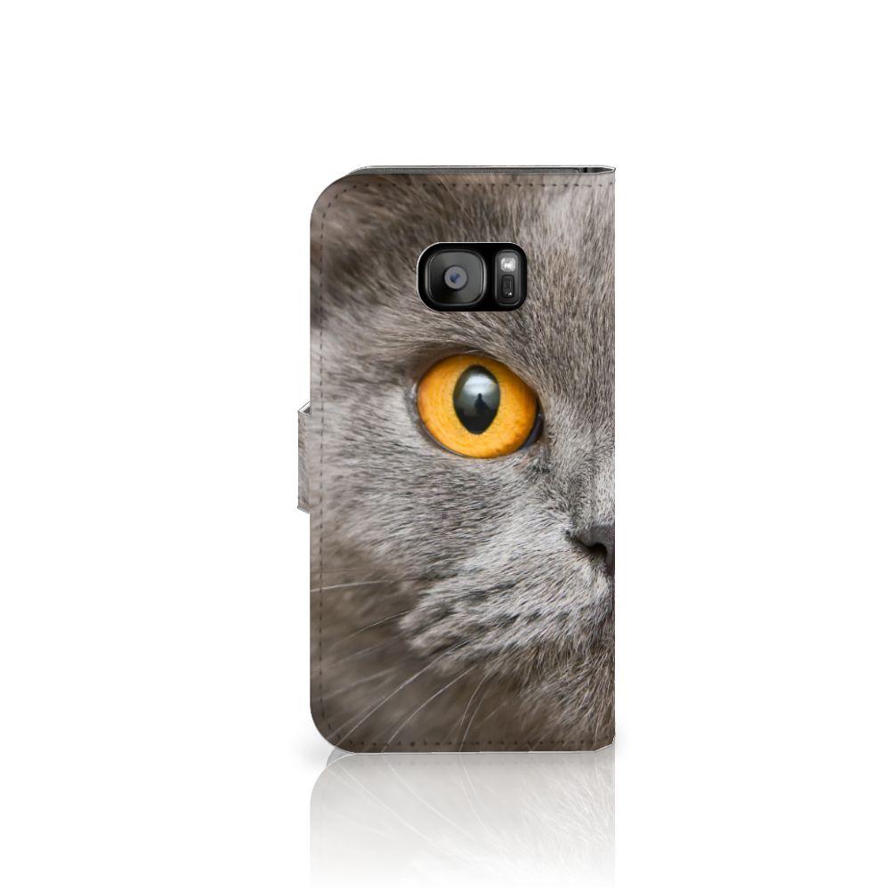 Telefoonhoesje met Pasjes Samsung Galaxy S7 Edge Britse Korthaar