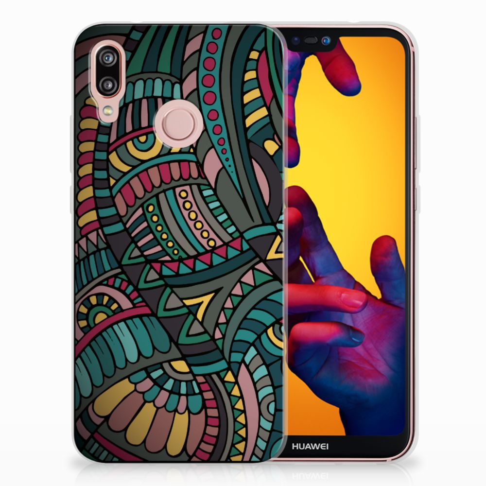 Huawei P20 Lite TPU Hoesje Design Aztec