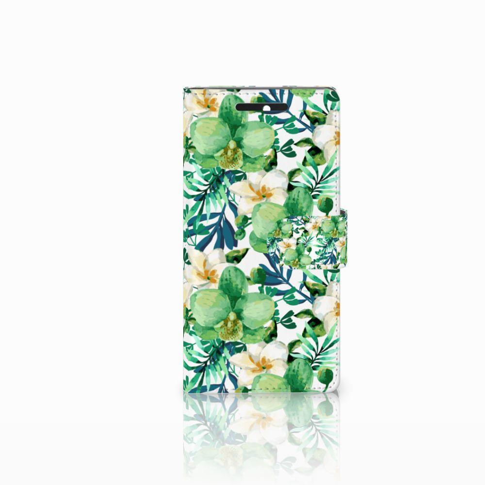 HTC Desire 628 Uniek Boekhoesje Orchidee Groen