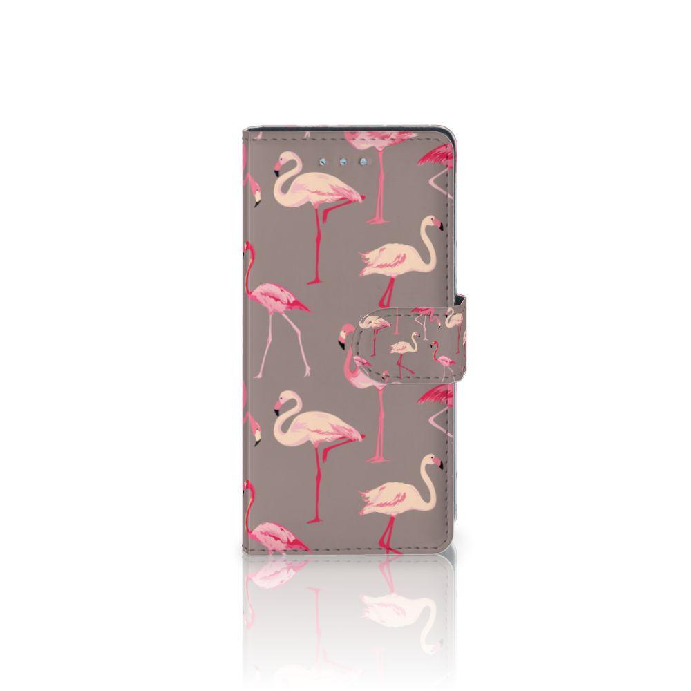 Huawei P9 Lite Uniek Boekhoesje Flamingo
