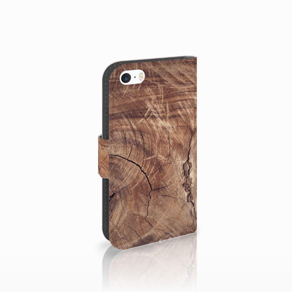 Apple iPhone 5 | 5s | SE Boekhoesje Design Tree Trunk