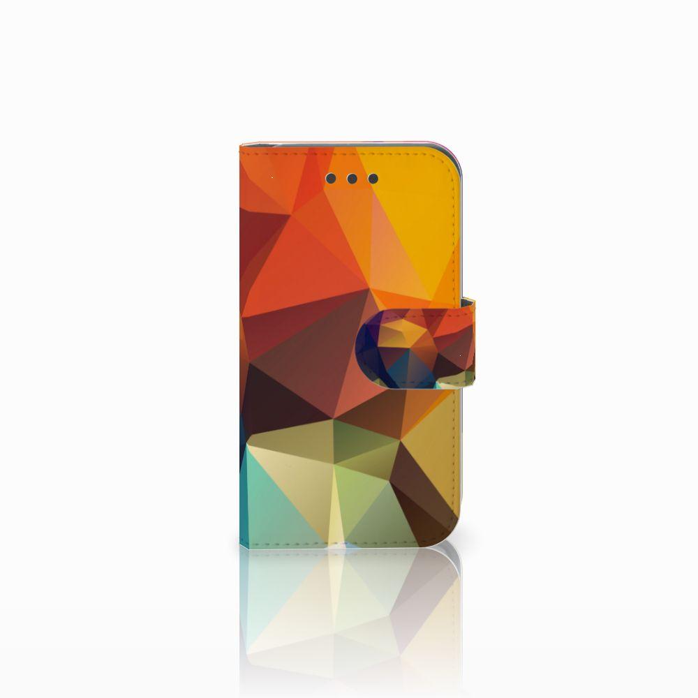 Samsung Galaxy Core 2 Bookcase Polygon Color