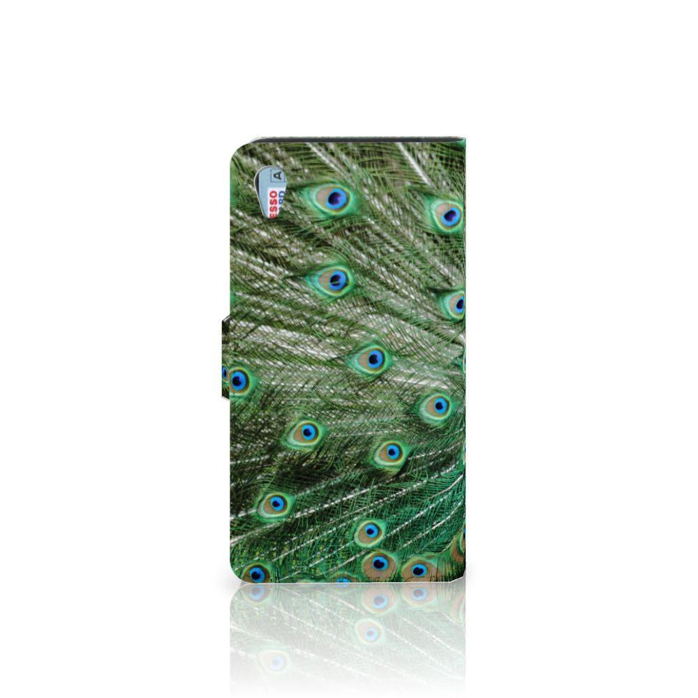 Sony Xperia Z3 Telefoonhoesje met Pasjes Pauw