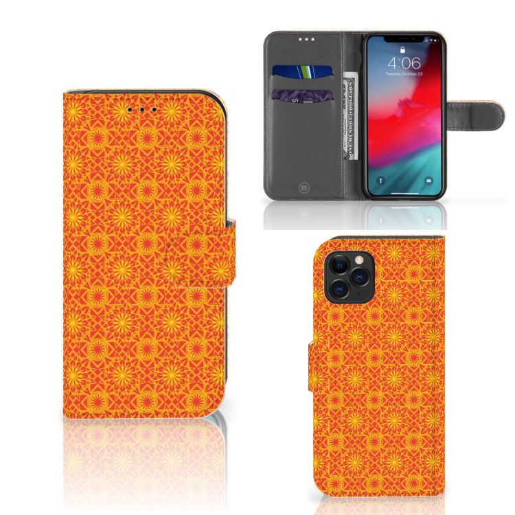 Apple iPhone 11 Pro Telefoon Hoesje Batik Oranje