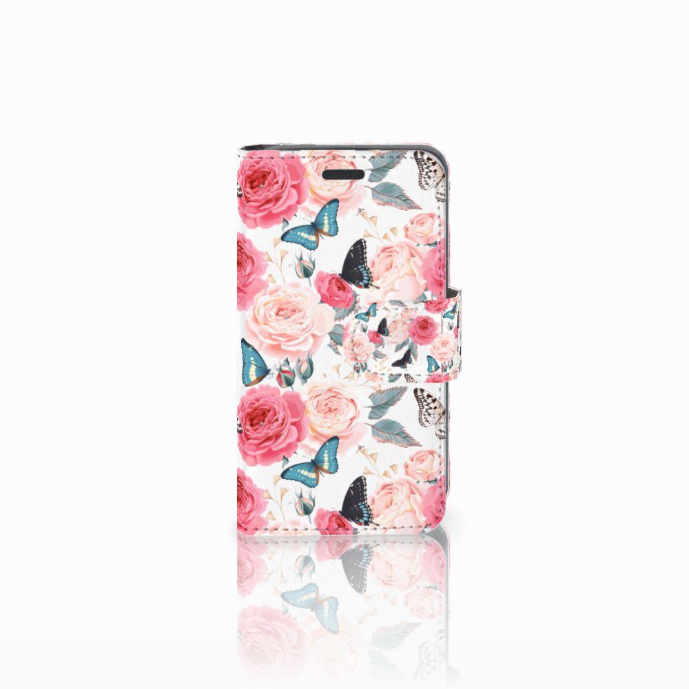 Nokia Lumia 520 Uniek Boekhoesje Butterfly Roses