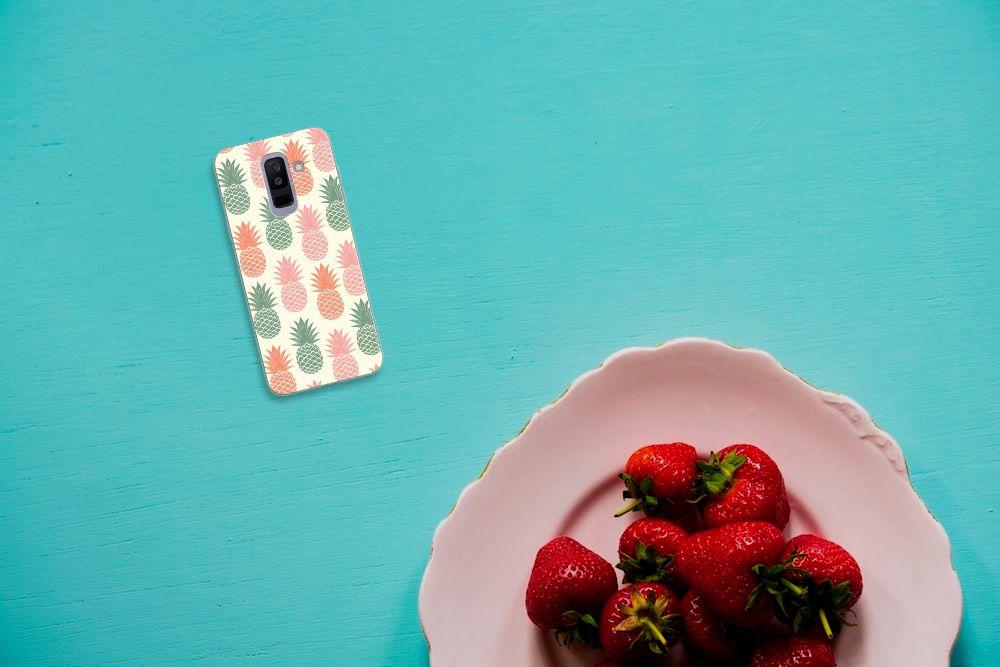 Samsung Galaxy A6 Plus (2018) Siliconen Case Ananas