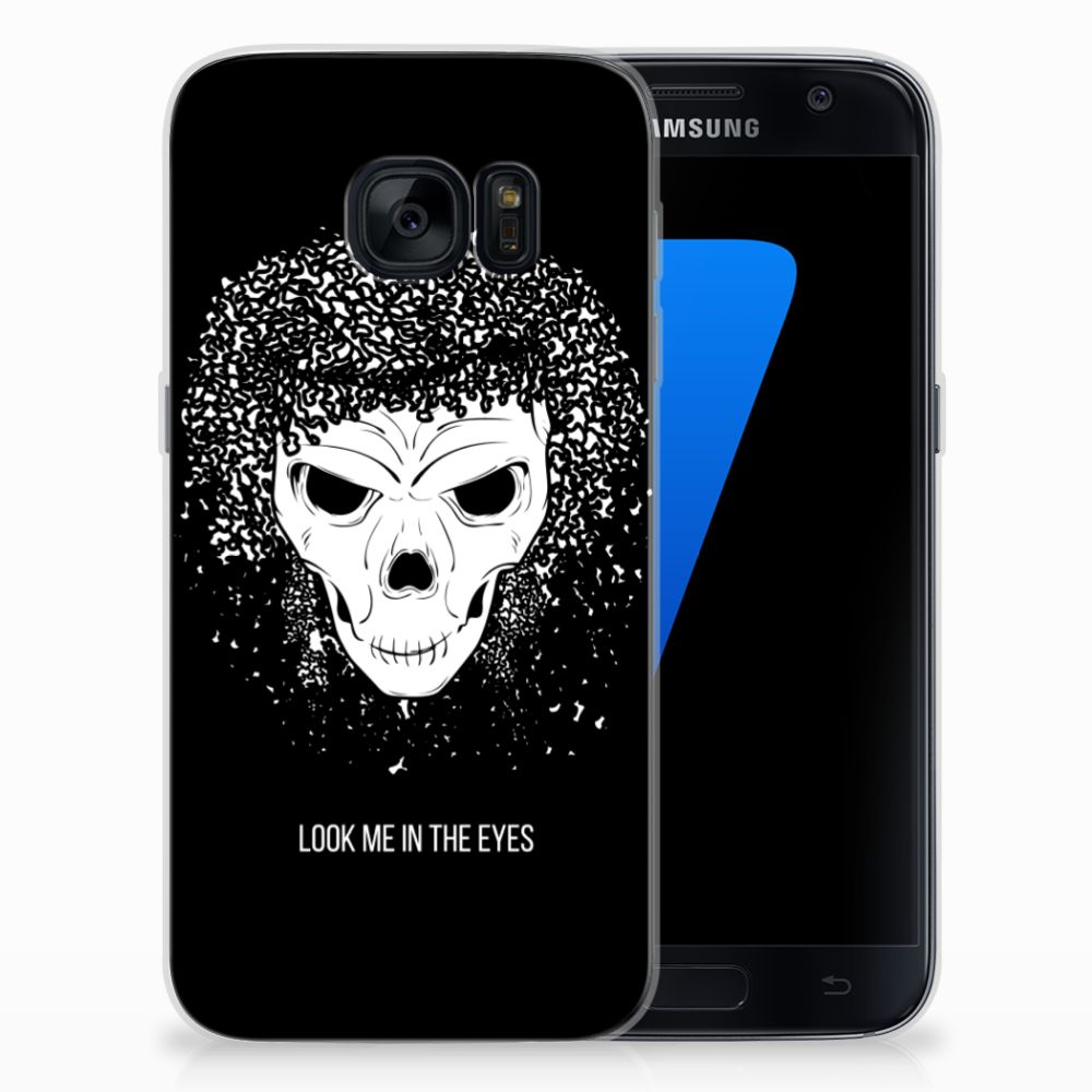 Silicone Back Case Samsung Galaxy S7 Skull Hair