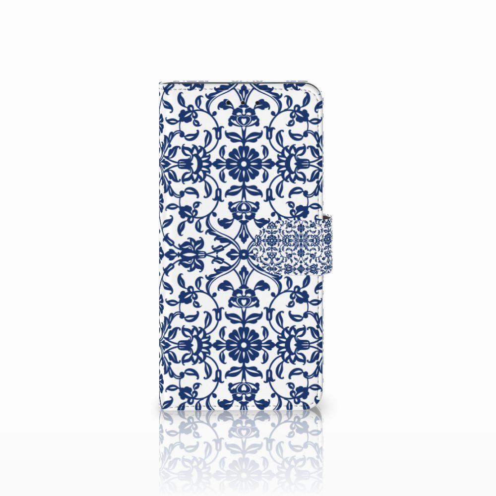 Motorola Moto E5 Plus Boekhoesje Flower Blue