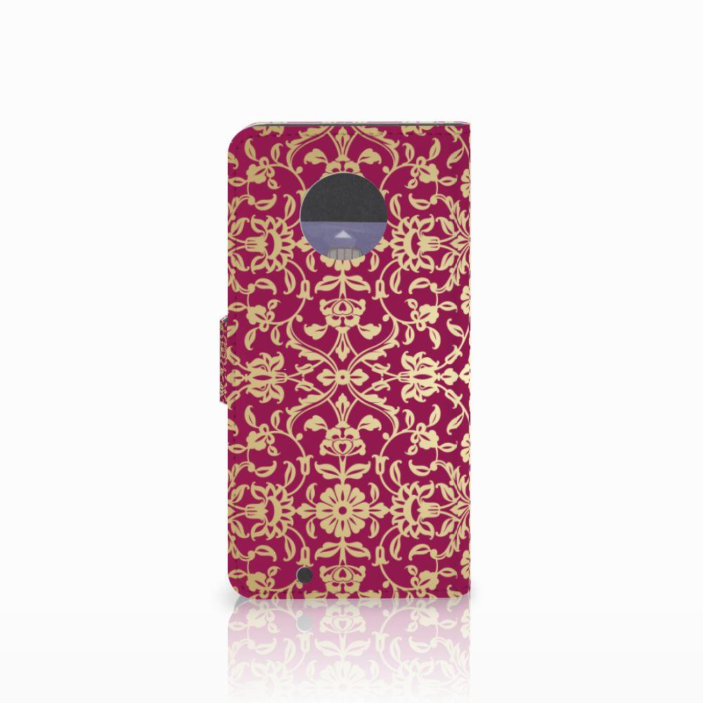 Wallet Case Motorola Moto G6 Barok Pink