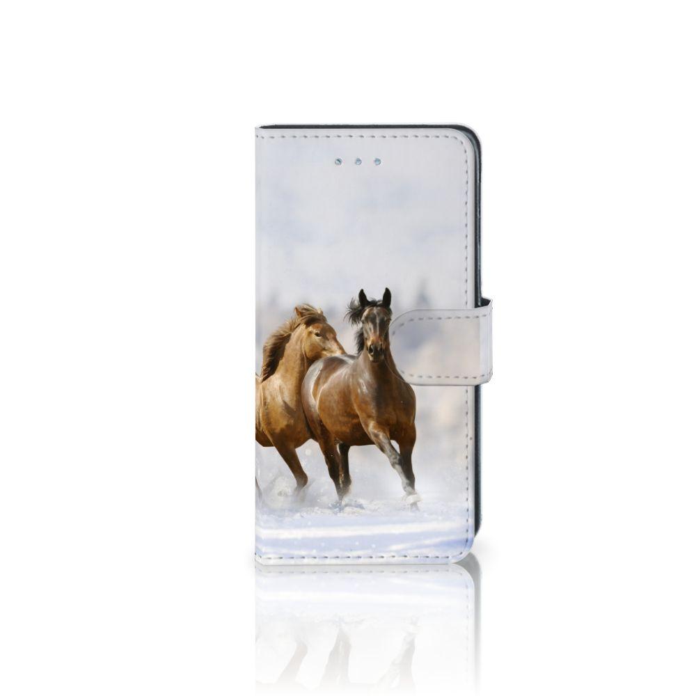 Samsung Galaxy J3 2016 Telefoonhoesje met Pasjes Paarden