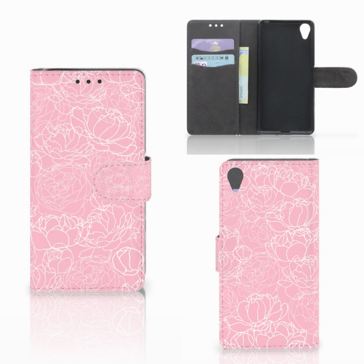 Sony Xperia X Wallet Case White Flowers