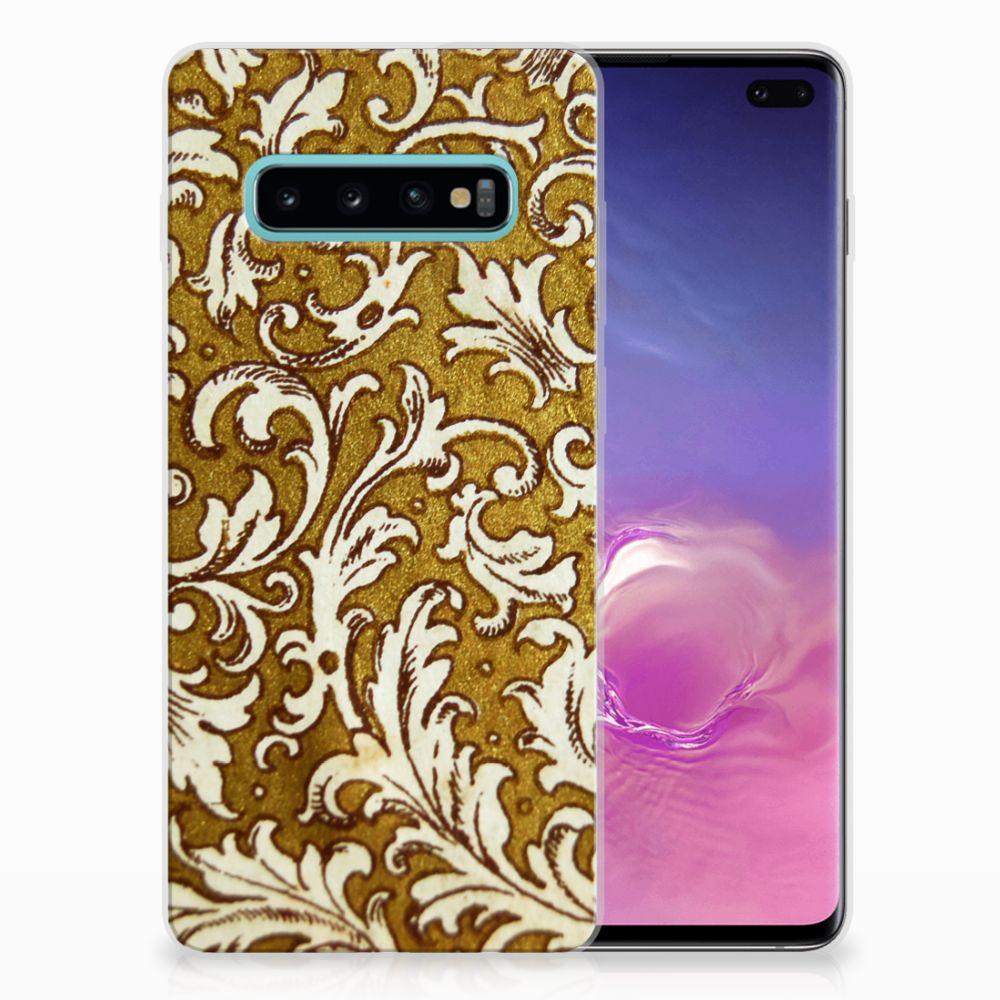 Samsung Galaxy S10 Plus TPU Hoesje Design Barok Goud