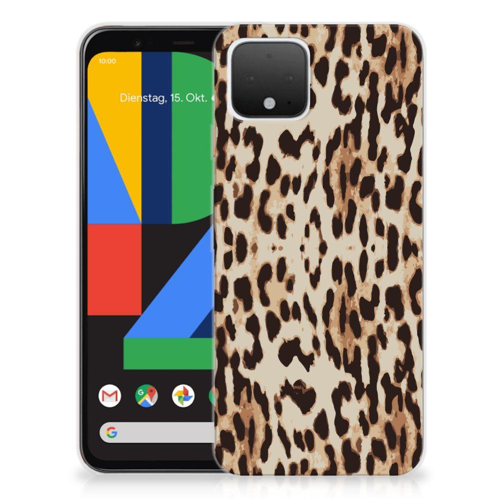 Google Pixel 4 TPU Hoesje Leopard