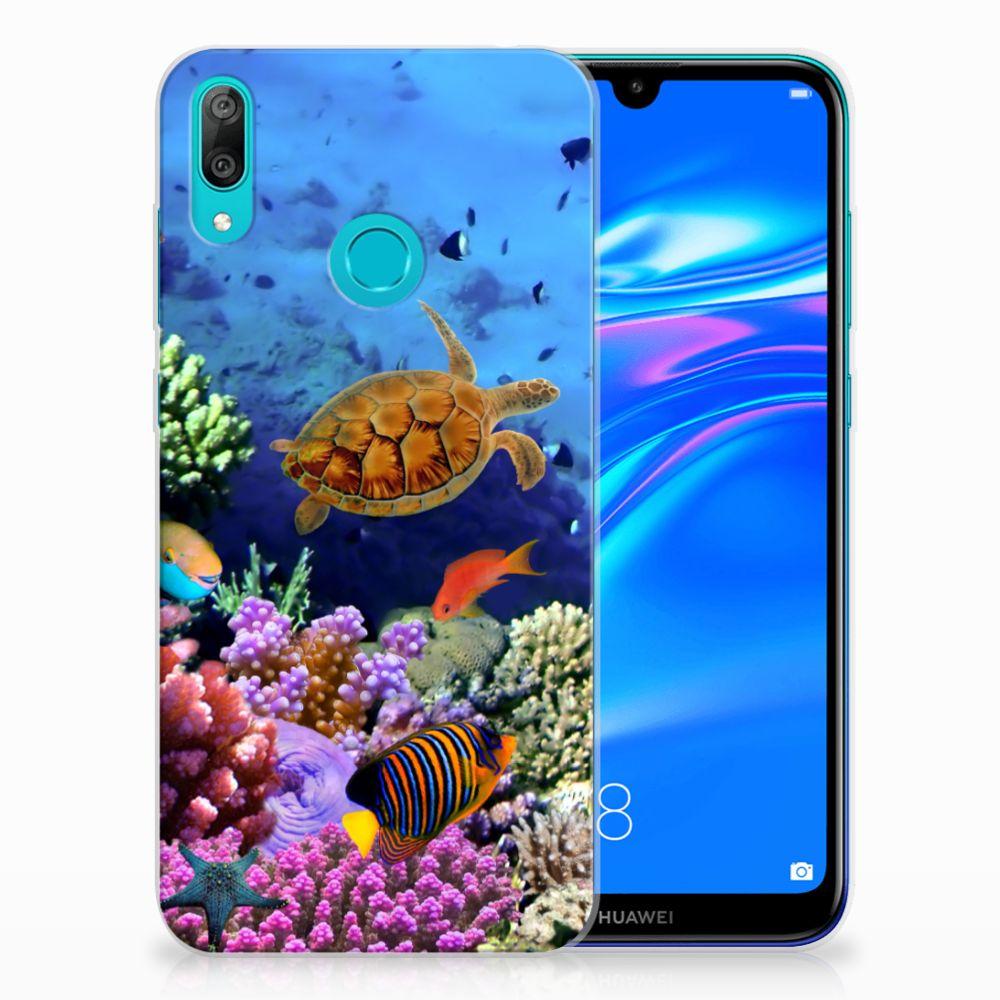 Huawei Y7 2019 TPU Hoesje Vissen