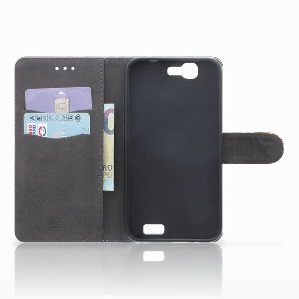 Huawei Ascend G7 Telefoonhoesje met Pasjes Uil
