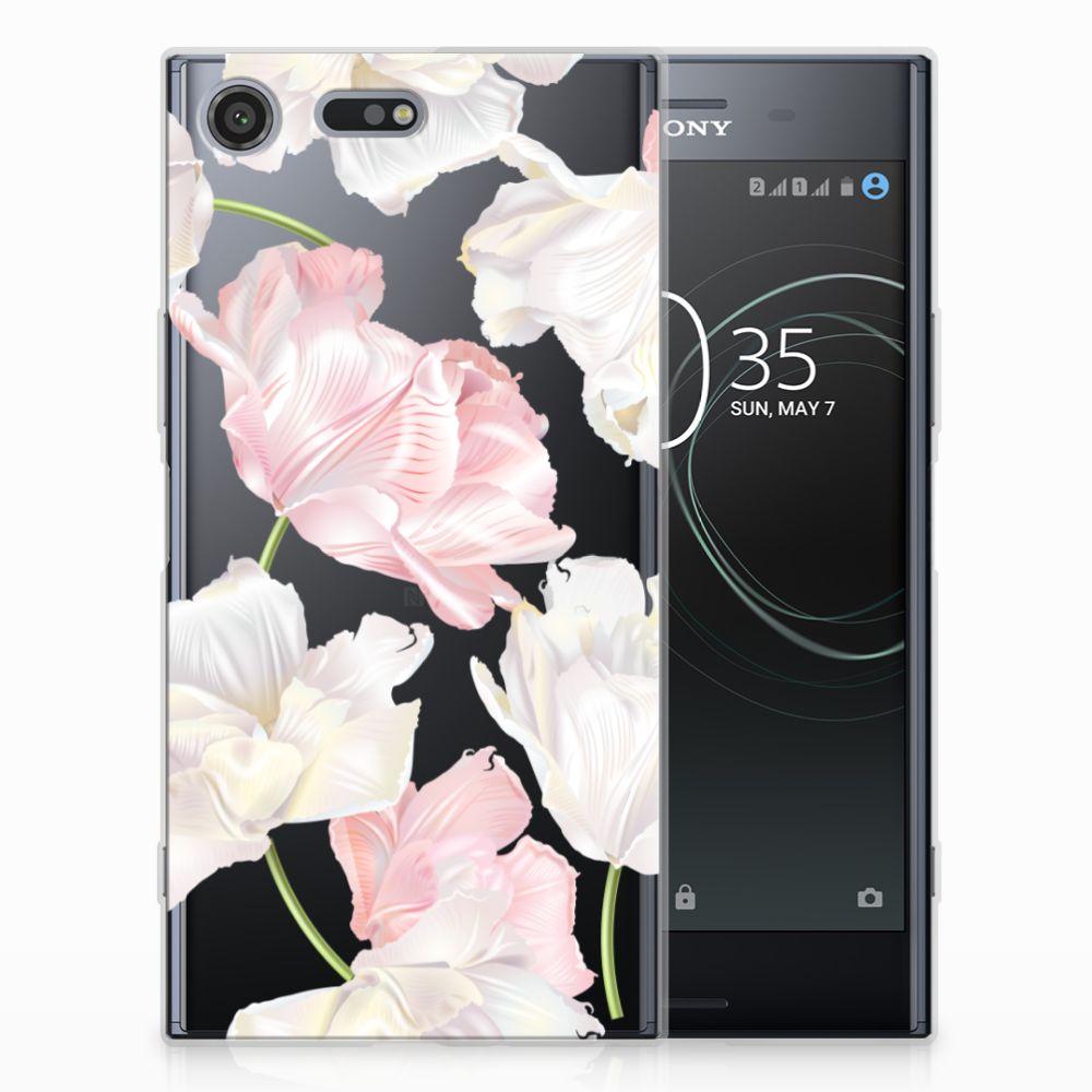 Sony Xperia XZ Premium TPU Hoesje Design Lovely Flowers