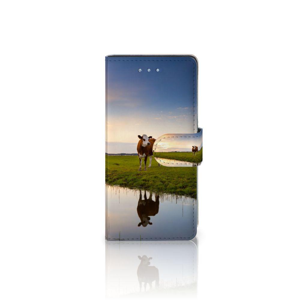 Huawei P9 Lite Telefoonhoesje met Pasjes Koe