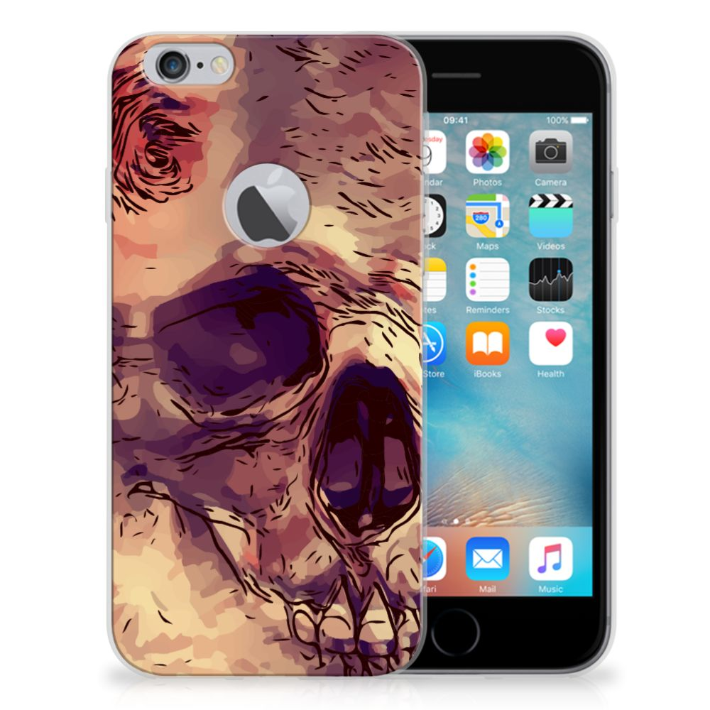 Silicone Back Case Apple iPhone 6 Plus | 6s Plus Skullhead