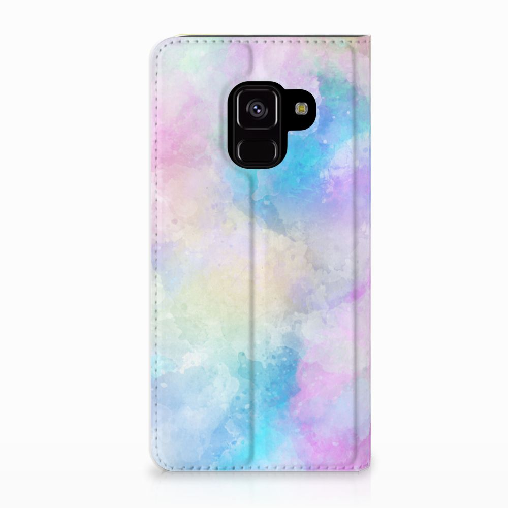 Samsung Galaxy A8 (2018) Uniek Standcase Hoesje Watercolor Light