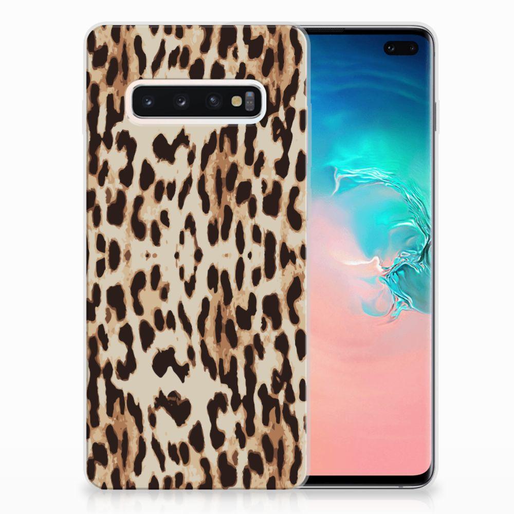 Samsung Galaxy S10 Plus TPU Hoesje Leopard