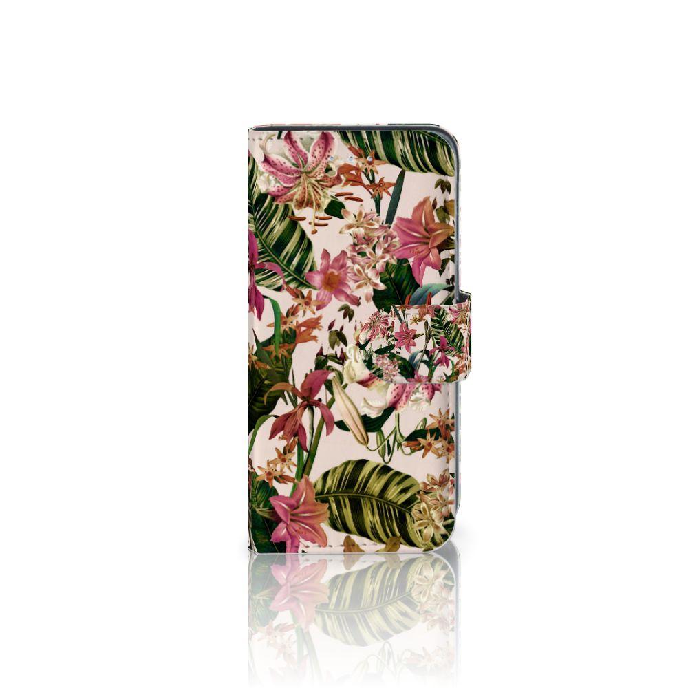 Samsung Galaxy A5 2016 Uniek Boekhoesje Flowers