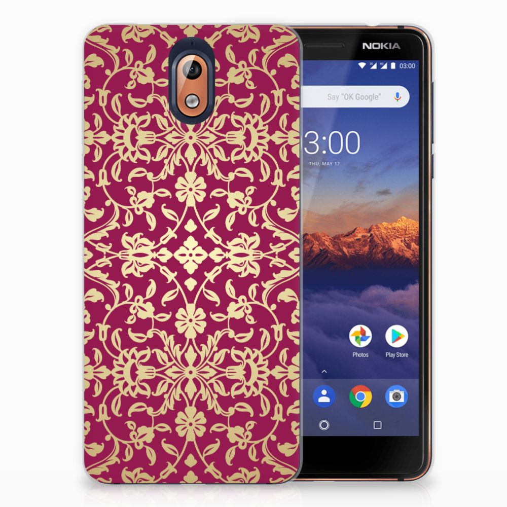 Nokia 3.1 (2018) TPU Hoesje Design Barok Pink