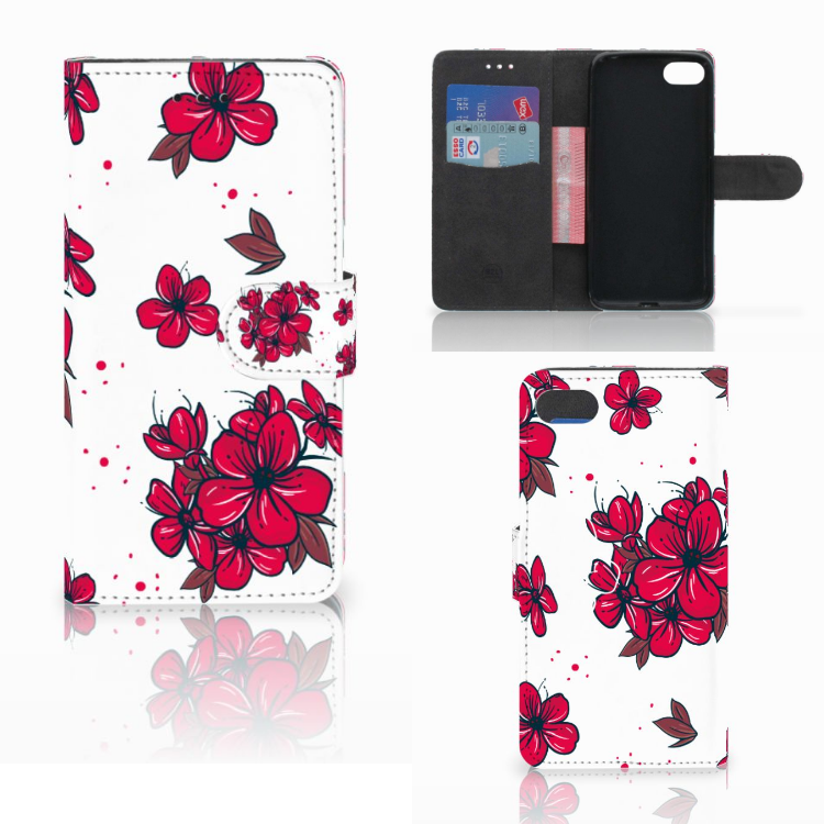 Huawei Y5 2018 Hoesje Blossom Red