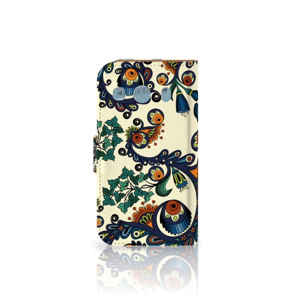 Wallet Case Samsung Galaxy Ace 4 4G (G357-FZ) Barok Flower