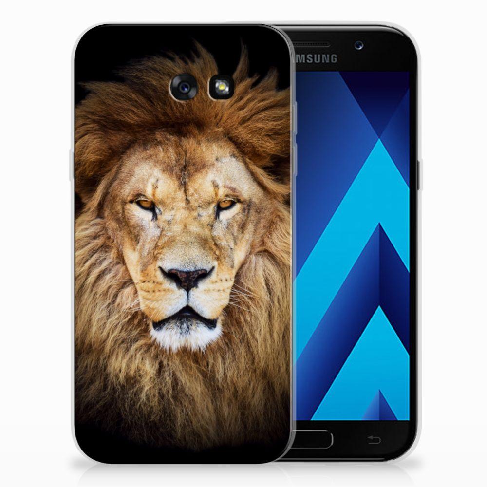 Samsung Galaxy A7 2017 TPU Hoesje Design Leeuw