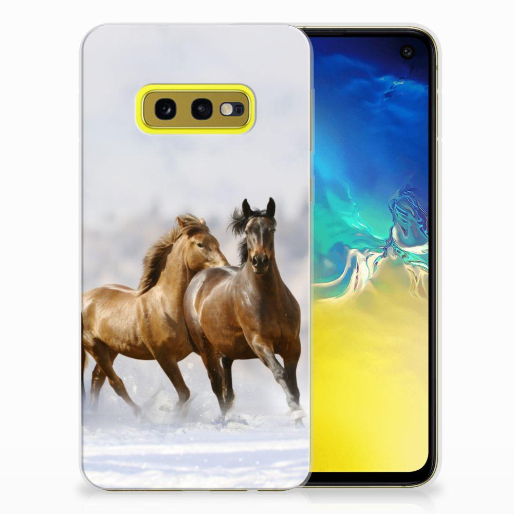 Samsung Galaxy S10e TPU Hoesje Paarden