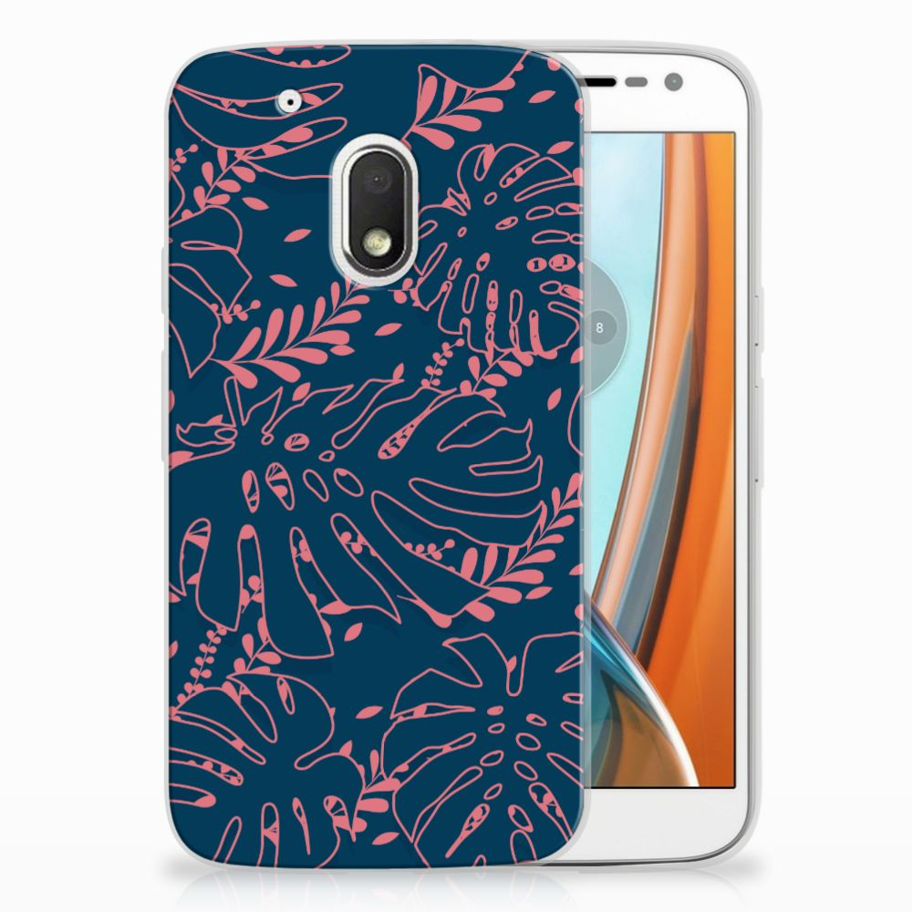 Motorola Moto G4 Play TPU Hoesje Design Palm Leaves