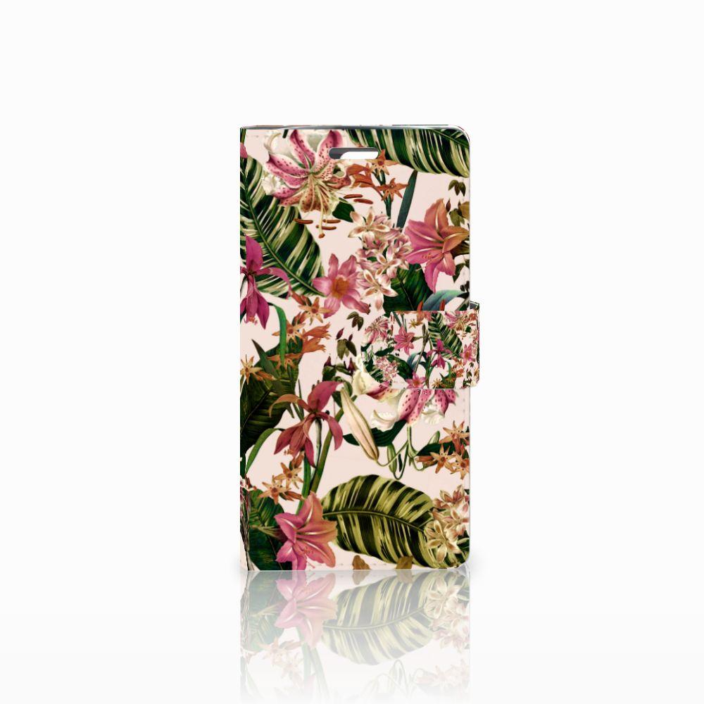 LG K10 2015 Uniek Boekhoesje Flowers