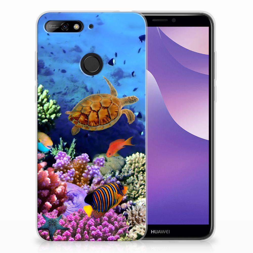 Huawei Y6 (2018) TPU Hoesje Design Vissen