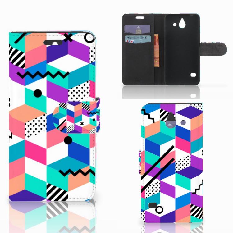 Huawei Ascend Y550 Bookcase Blokken Kleurrijk