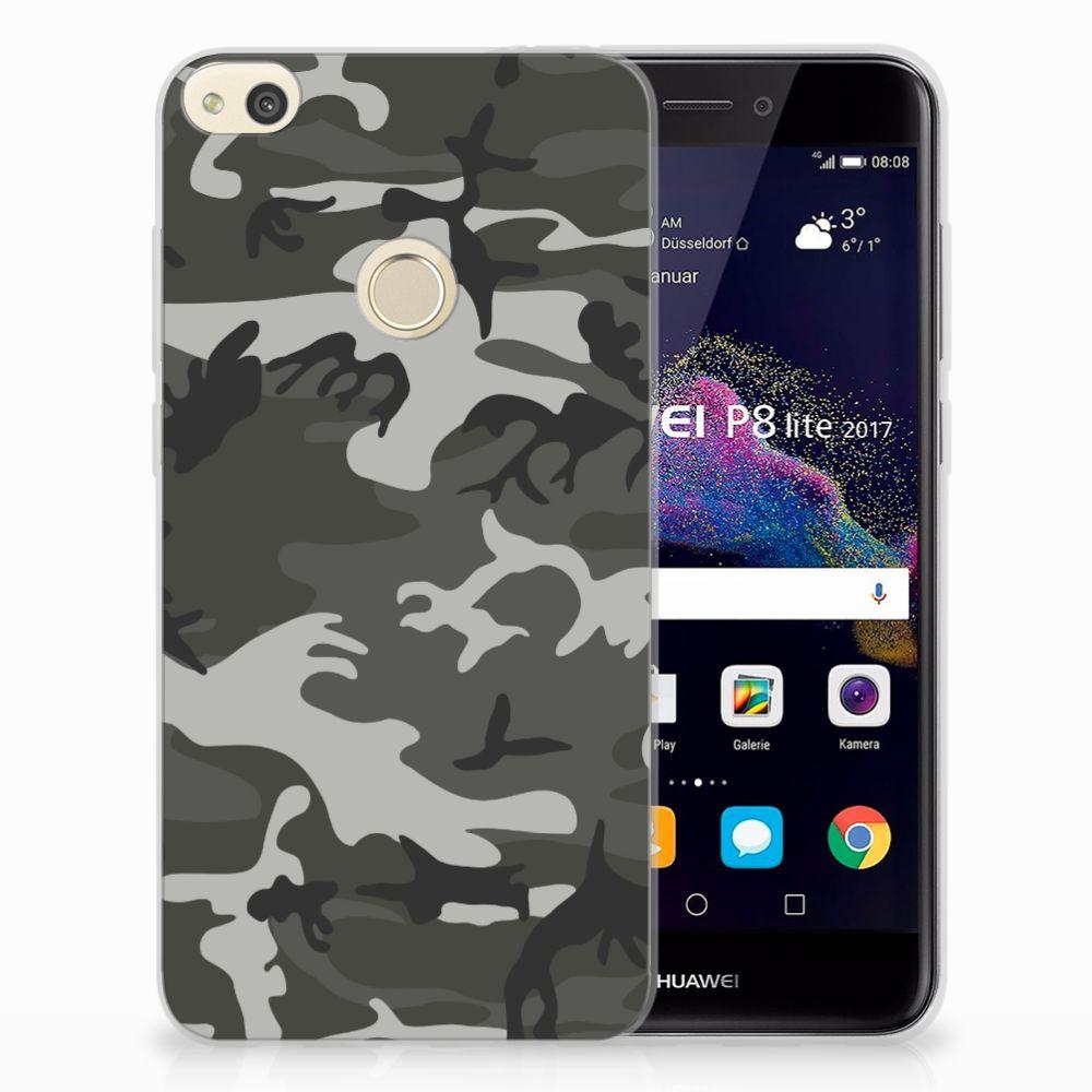 Huawei P8 Lite 2017 Uniek TPU Hoesje Army Light