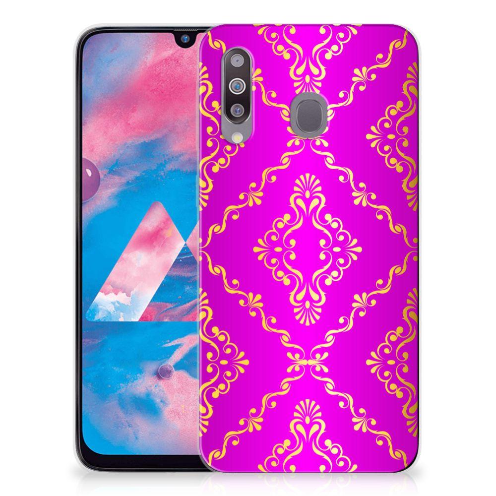 Siliconen Hoesje Samsung Galaxy M30 Barok Roze