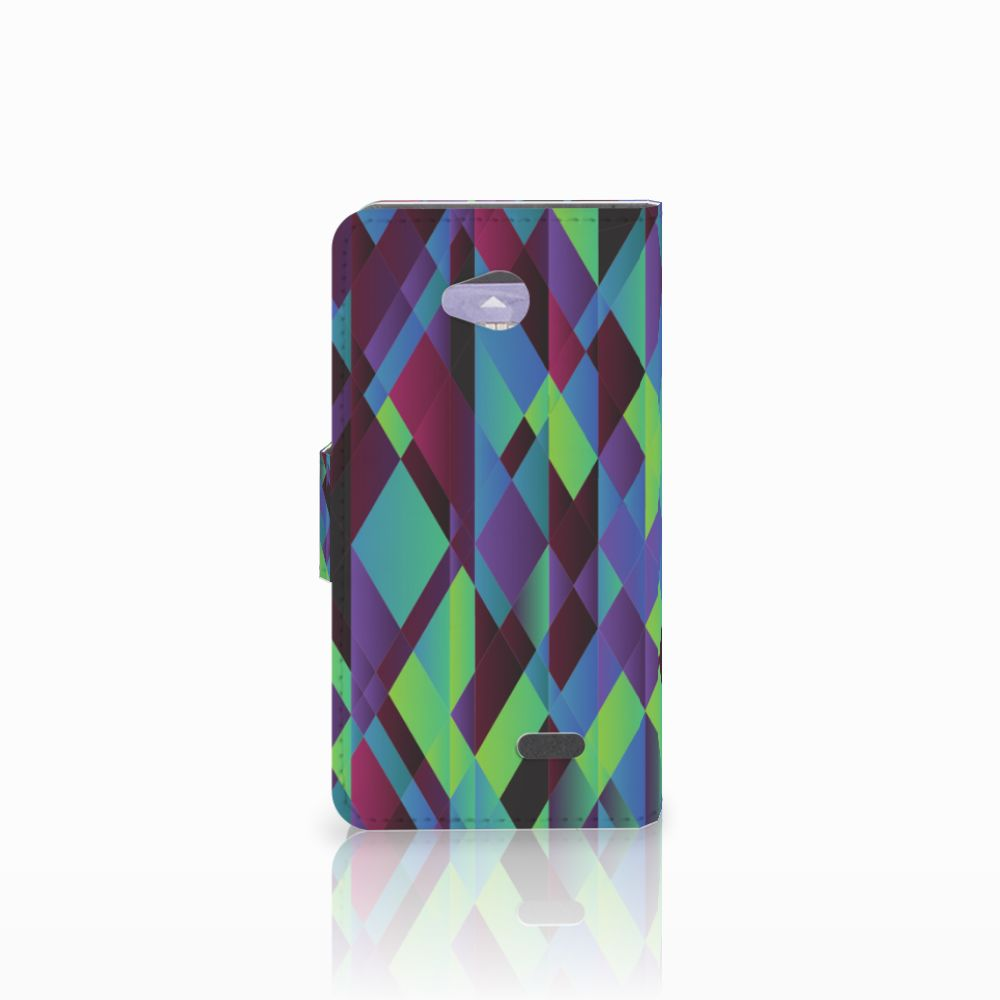 LG L70 Bookcase Abstract Green Blue