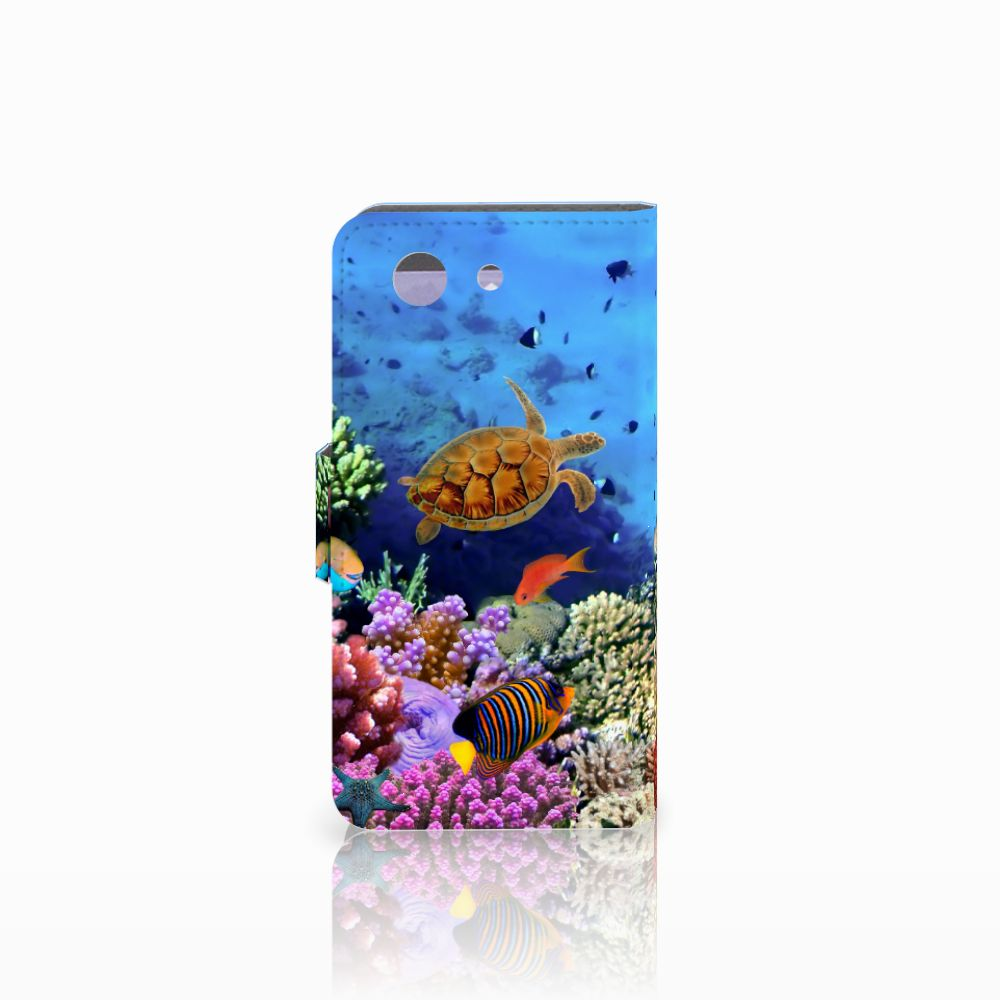 Sony Xperia Z3 Compact Telefoonhoesje met Pasjes Vissen