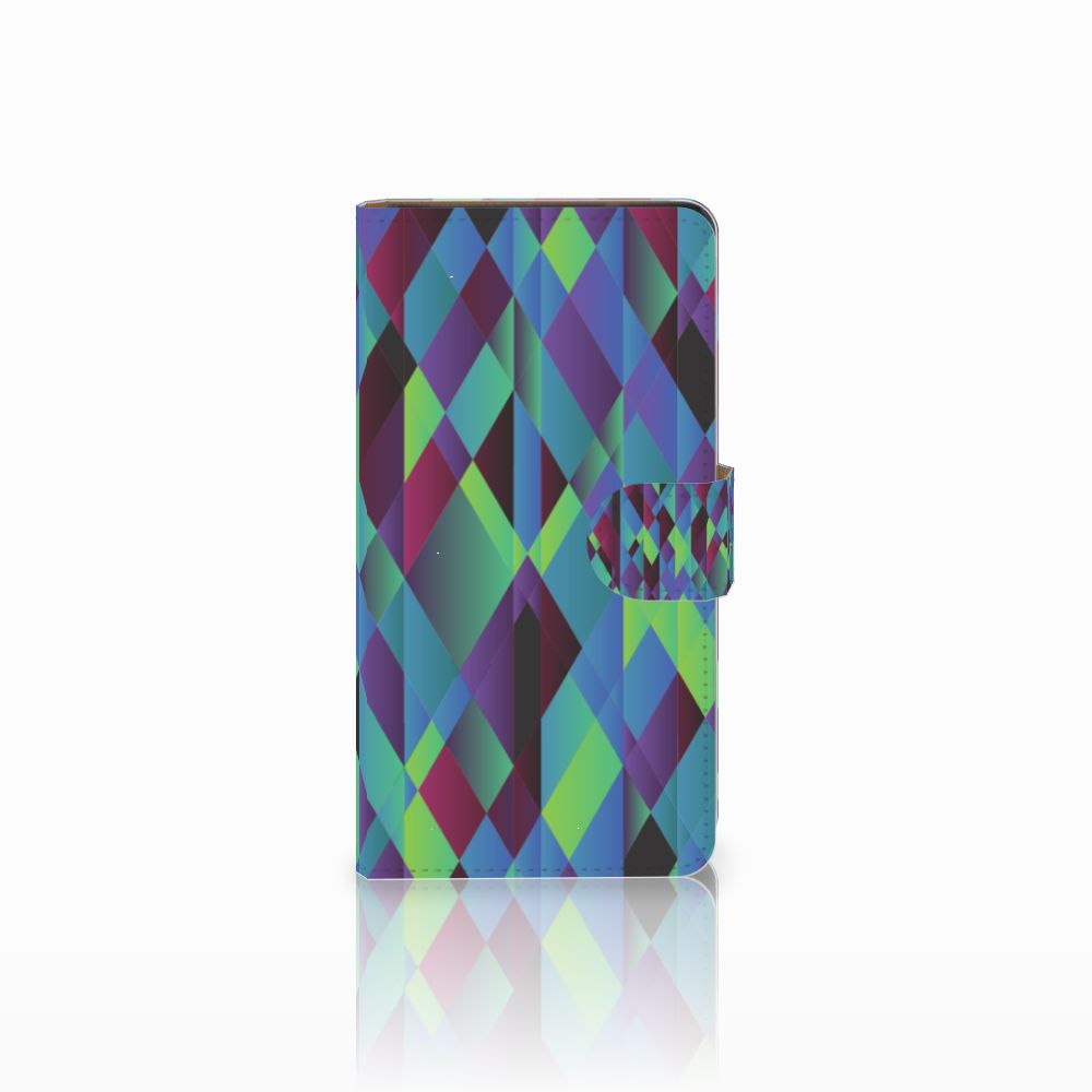 Huawei Ascend G700 Bookcase Abstract Green Blue