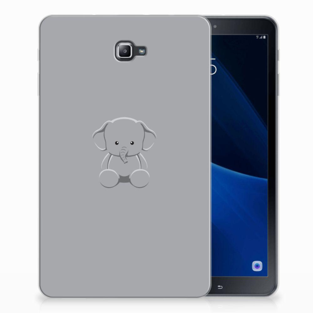 Samsung Galaxy Tab A 10.1 Uniek Tablethoesje Baby Olifant