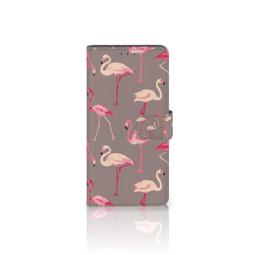 Motorola Moto Z Play Telefoonhoesje met Pasjes Flamingo