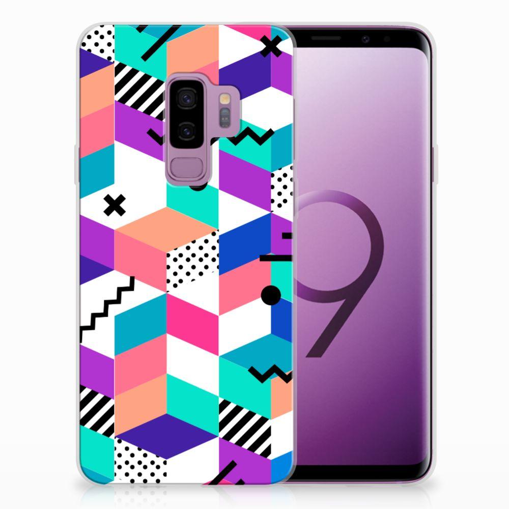 Samsung Galaxy S9 Plus TPU Hoesje Design Blocks Colorful