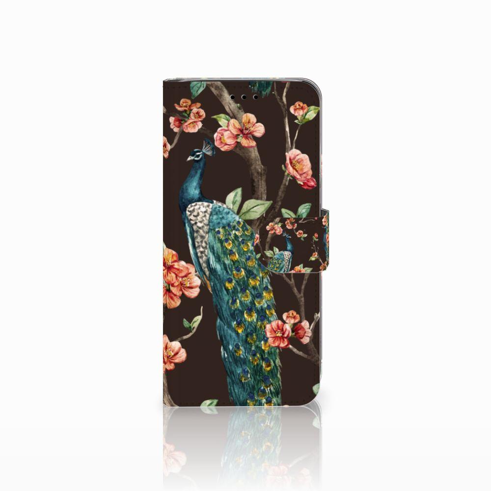 Samsung Galaxy A6 2018 Boekhoesje Design Pauw met Bloemen