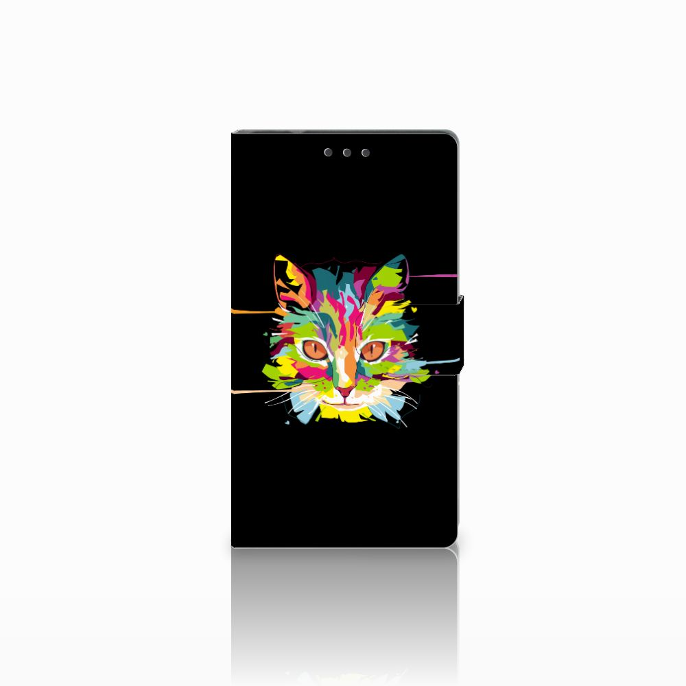 Samsung Galaxy Note 4 Uniek Boekhoesje Cat Color