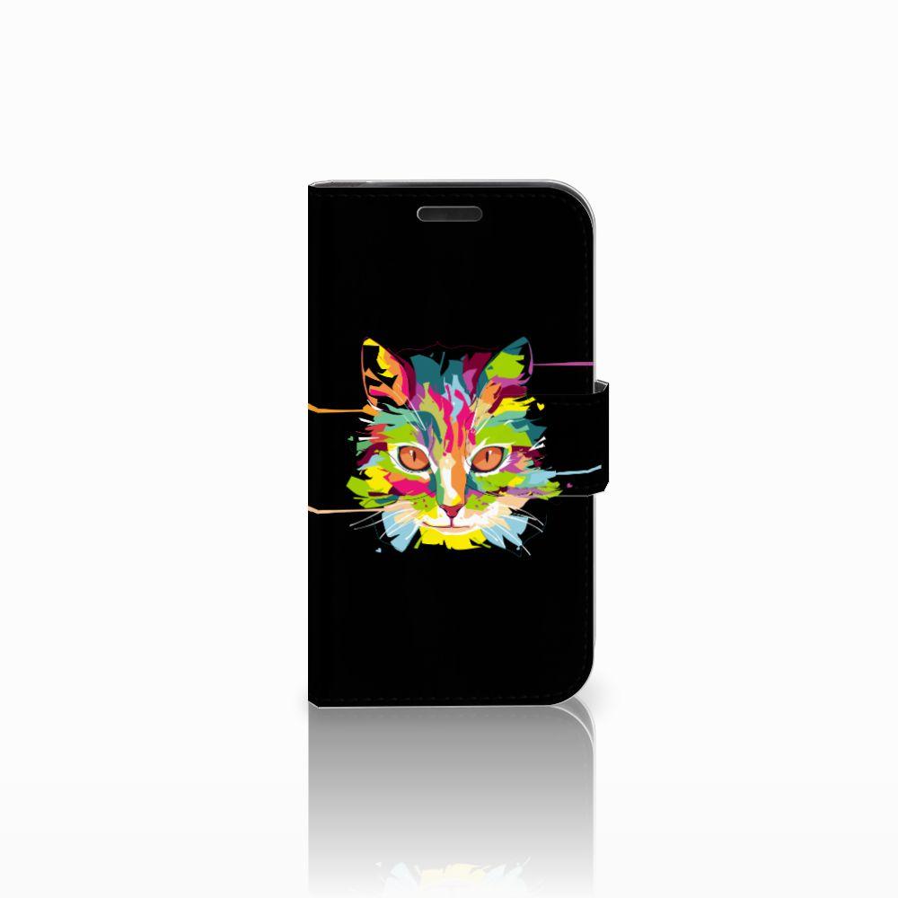 LG K4 Uniek Boekhoesje Cat Color